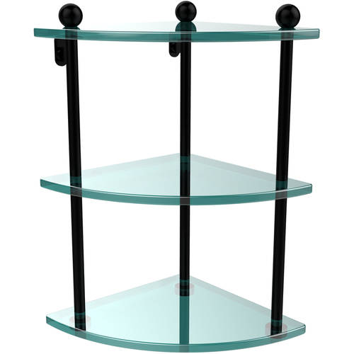 3-Tier Corner Glass Shelf (Build to Order)