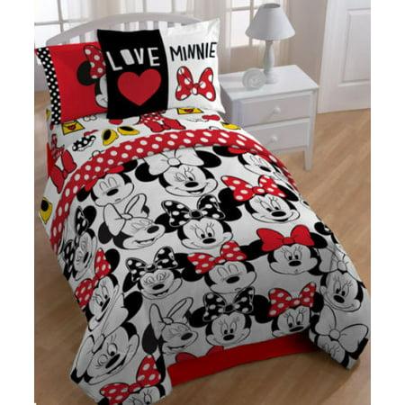 Minnie Mouse Red Twin Comforter Sheets Amp Bonus Sham J 5