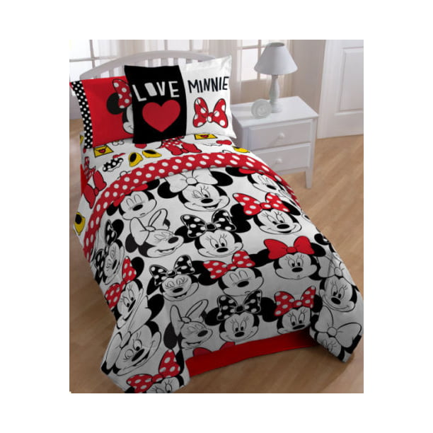 Minnie Mouse Red Twin Comforter, Sheets & BONUS SHAM J (5