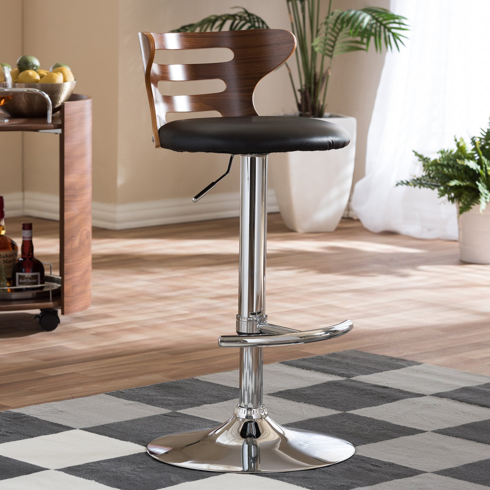 Buell and Modern Bar Stool Black - Baxton Studio