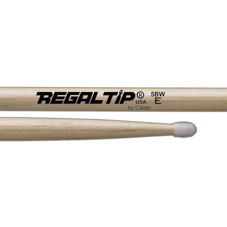 Regal Tip 025E E Series Hickory Nylon 5B-E Wood Drum Set Kit Drumstick Pair by Regal Tip