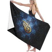 Selm Te-Ness-e City Microfiber Bath Towel - Oversized Soft uper Absorbent and Fast Drying - No Fading Multipurpose Use for Sports Travel Fitness Yoga 51 x 31 inch