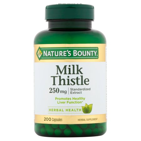 Nature's Bounty Milk Thistle Dietary Supplement for Healthy Liver Support*, Antioxidant Properties, 250mg Capsules, 200 Count ()