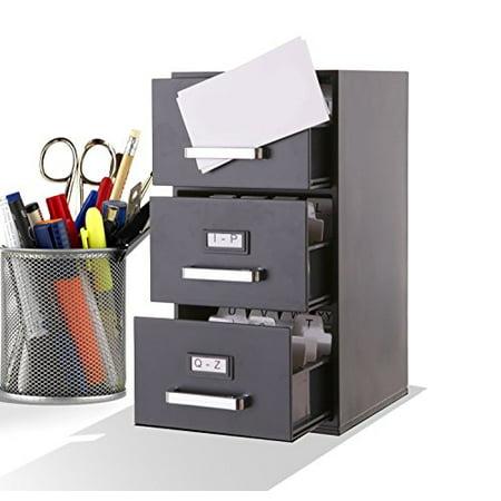 mini file cabinet business card holder 3 drawer - Business Card File