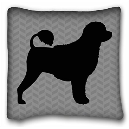 WinHome Boxer Dog Silhouette Natural Ears Throw Pillow Case Cases Cover Cushion Covers Sofa Size 20x20 Inches Two Side