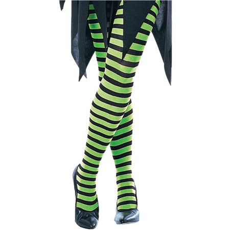 Halloween Stripping Costume (Morris Costume RU944MD Green Black Strip Tights Child Costume,)