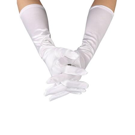 Women's Evening Party Formal Gloves Stretch Stain Bridal Wedding Opera Gloves - Evening Gloves