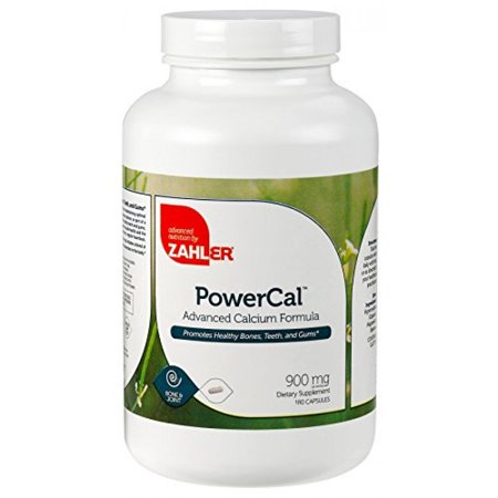 Zahler PowerCal, Calcium Supplement with Vitamin D, Promotes Healthy Bones Teeth and Gums, Certified Kosher, 180 Capsules (Bubble Gum Vitamins)