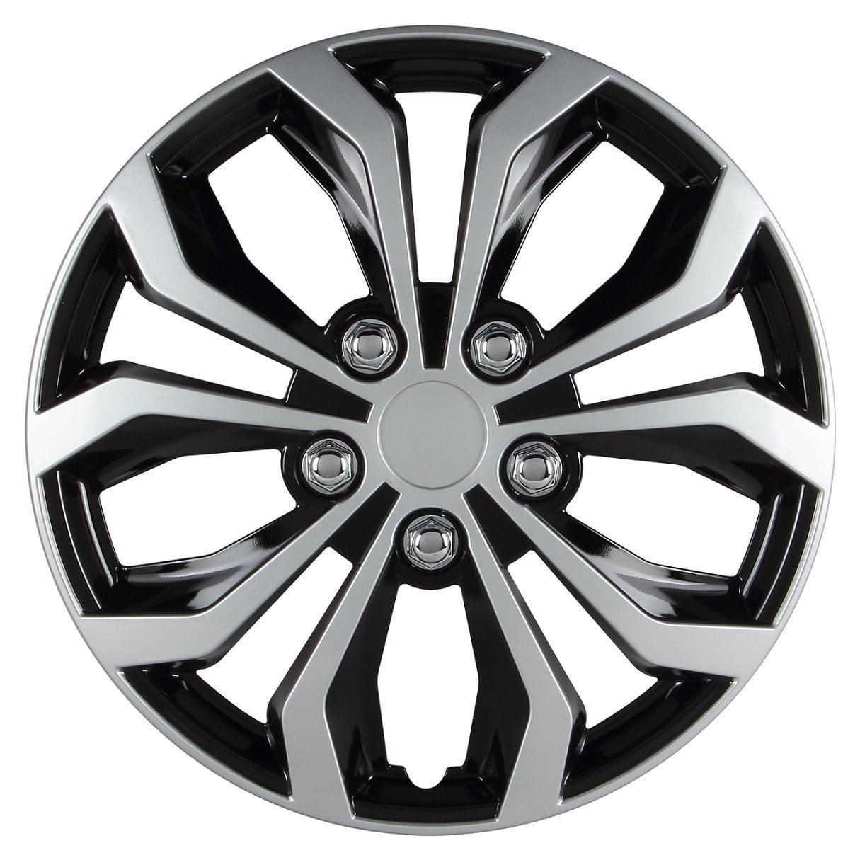 Set of 4 Pilot Automotive WH525-14S-BX 5 Lug Silver 14 Wheel Cover,