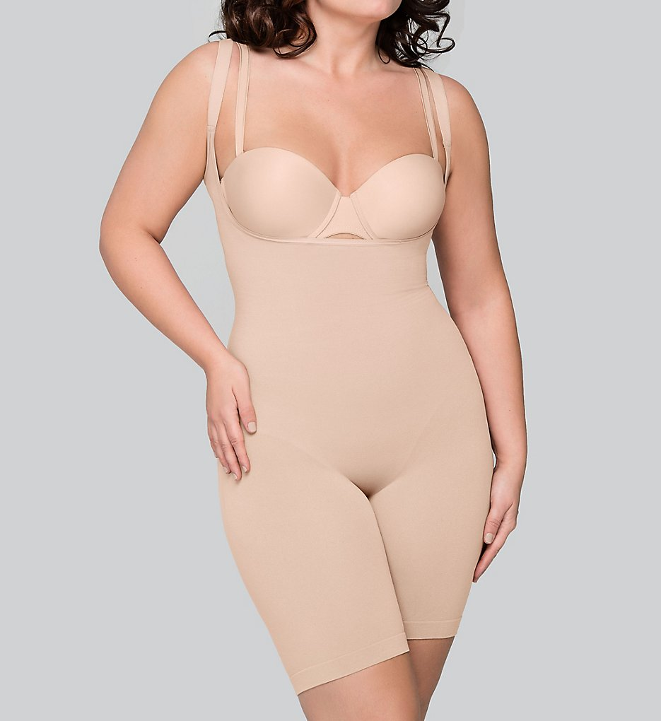 Body Wrap 55305 The Smooth Catwalk Plus Size Long Leg Bodysuit