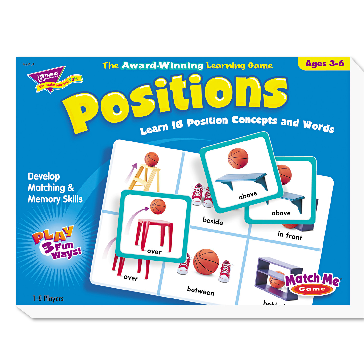 TREND Positions Match Me Puzzle Game, Ages 5-8 -TEPT58104