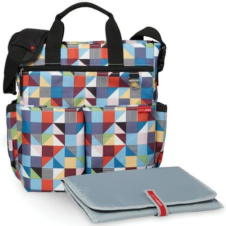Skip Hop Duo Signature Dipaer Bag, Prism (Skip Hop Duo Double Signature Diaper Bag Black)