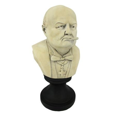 Ceramic Winston Churchill with Cigar Bust