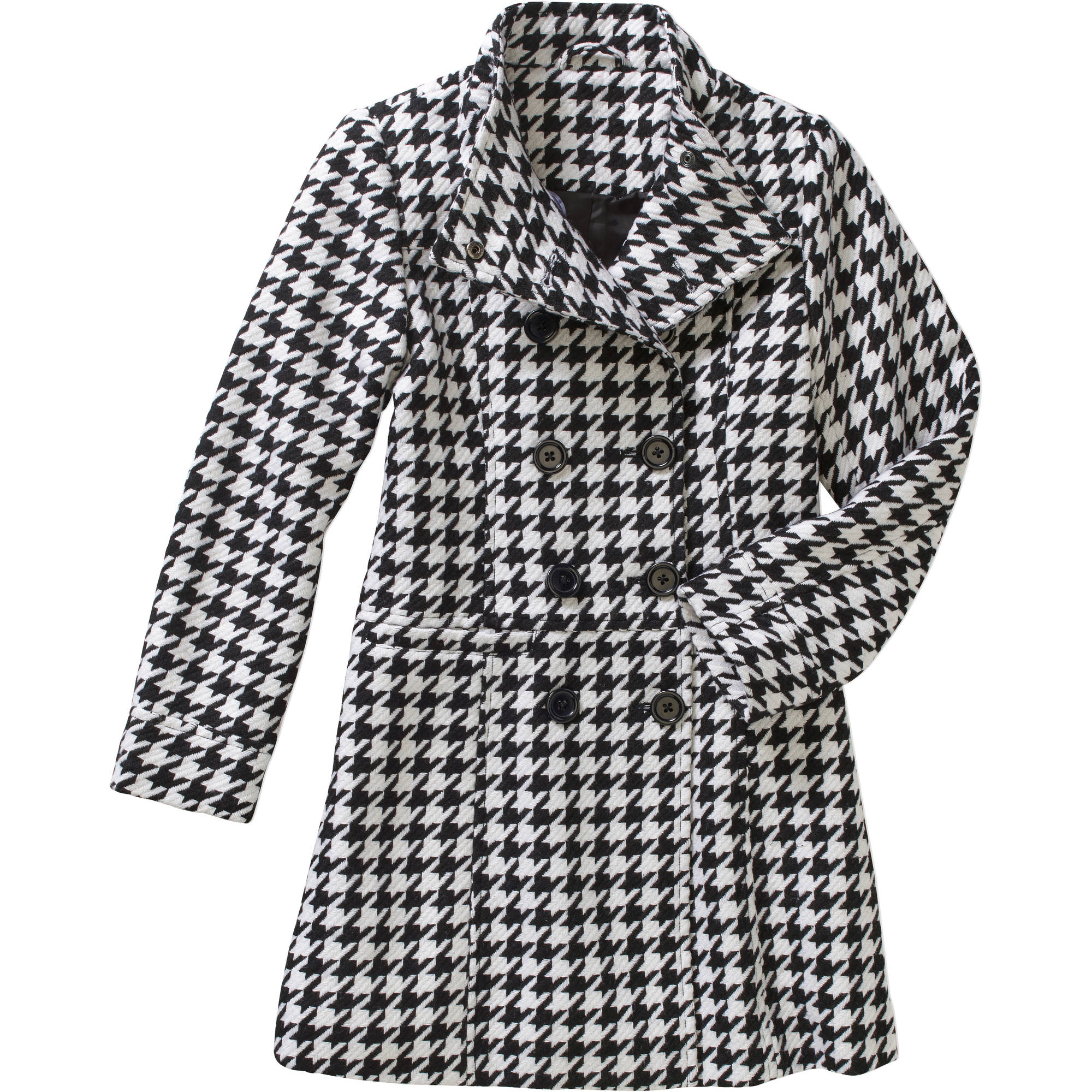 George Girls' Long Wool Double Breasted Peacoat