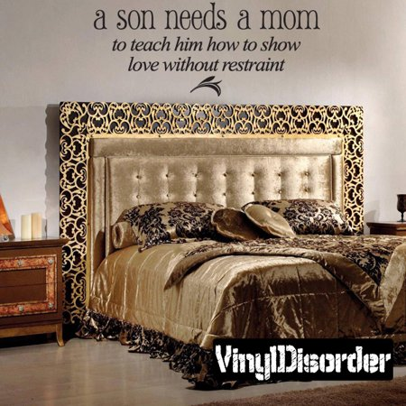 A son needs a mom to teach him how to show love without restraint Child Teen Vinyl Wall Decal Mural Quotes Words LO032AsonVII8 36 Inches