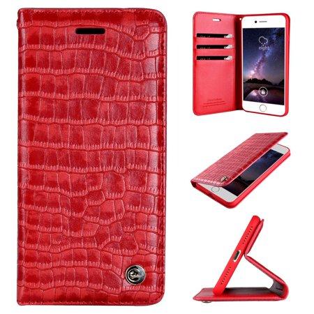 815a0f700f iPhone 6s Plus Case, iPhone 6 Plus Case, XIEKE [Crocodile Pattern]  [Magnetic Closure] Premium PU Leather Wallet ...