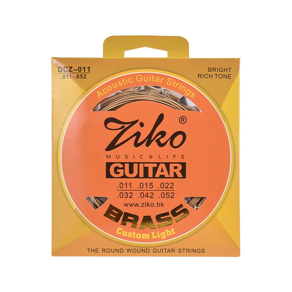 1 Set ZIKO Custom Light Nickel Wound Electric Guitar Strings Bright Rich Tone