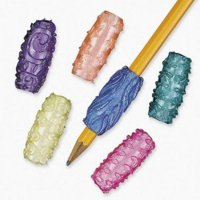 Fun Express - Vinyl Pearlized Sticky Pencil Grips, Assorted styles, 48/Pkg