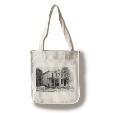 Magnetic Springs, Ohio - Exterior View of the Post Office (100% Cotton Tote Bag -
