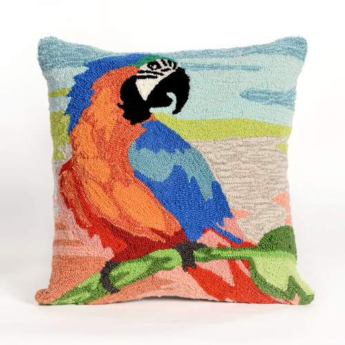 Frontporch Macaw Sunset Pillow-Color:Orange