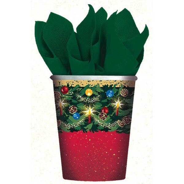 Warmth of Christmas 9 oz Hot Cold Paper Cups 8 Ct