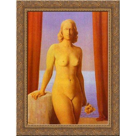 Flowers of Evil 20x24 Gold Ornate Wood Framed Canvas Art by Magritte, Rene