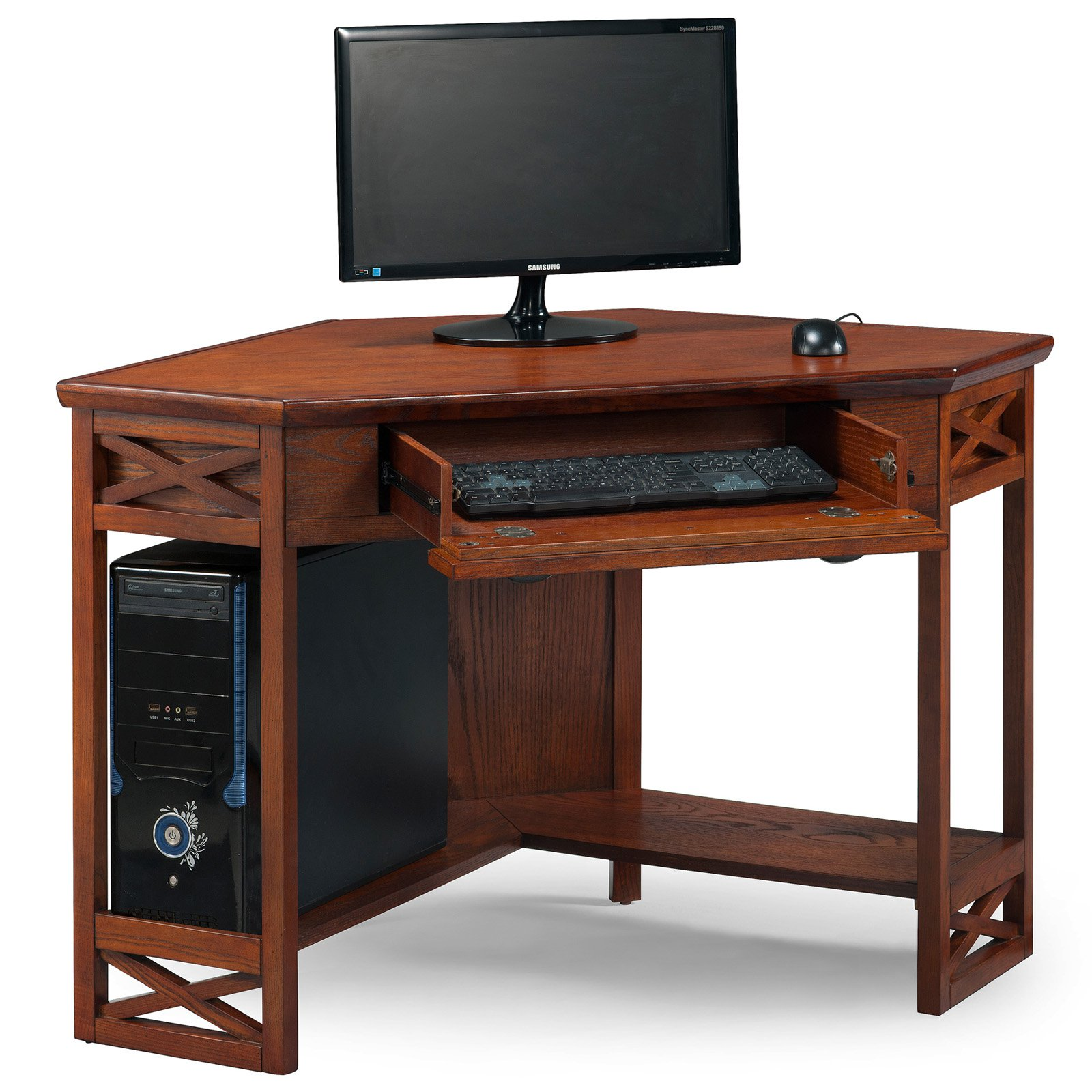 Leick Home Oak Corner Computer/Writing Desk