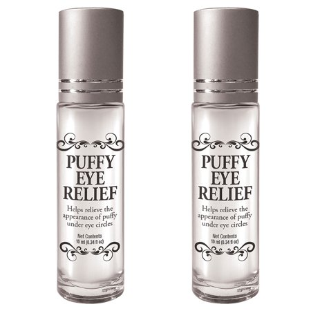 (Set/2) Puffy Eye Relief Powerful Roll-on Cools Skin Reduces Under Eye Bags