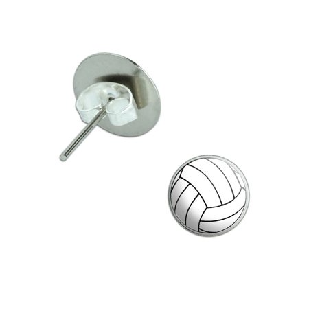 Volleyball Pierced Stud Earrings