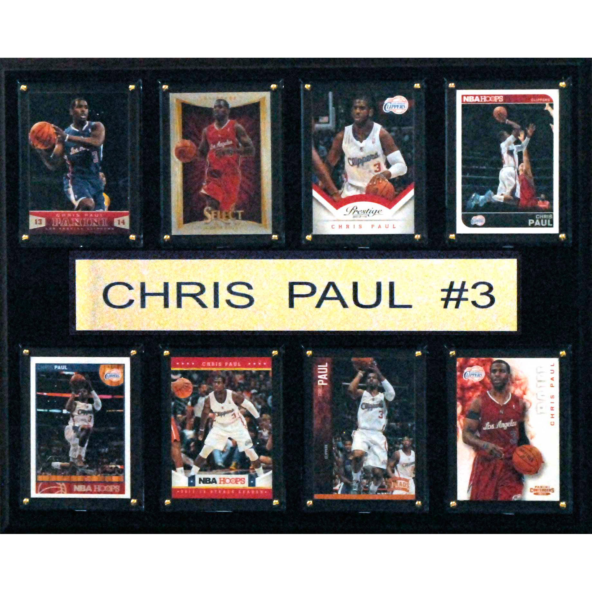 C&I Collectables NBA 12x15 Chris Paul Los Angeles Clippers 8-Card Plaque