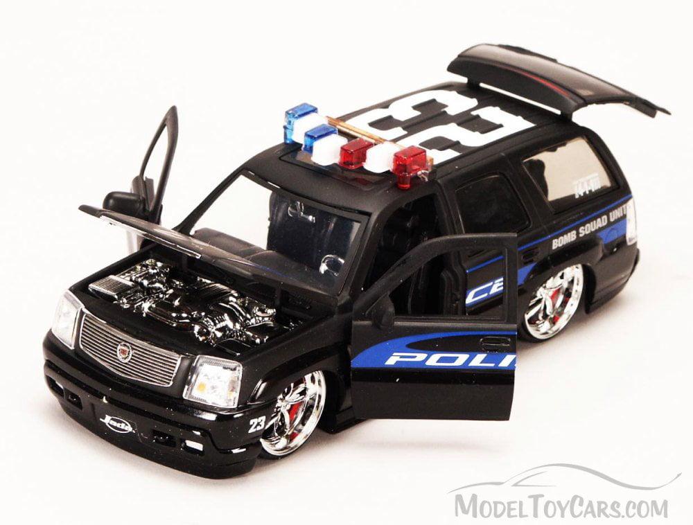 Cadillac Escalade Police Suv Black Jada Toys Heat 6631 1 24