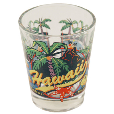 "Ddi Hawaii Shot Glass 2.25h X 2"" W 3 View (pack Of 96)"