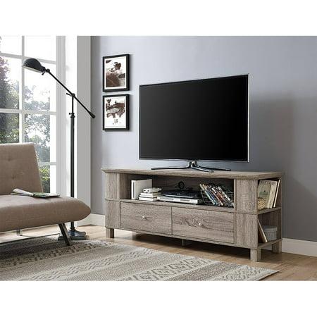 driftwood wood tv stand for tvs up to 65. Black Bedroom Furniture Sets. Home Design Ideas