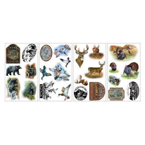 Wildlife Medley Peel and Stick Wall Decals