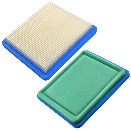 Image of HQRP 2-pack Air Filter Cartridge for John Deere LG491588JD / PT15853 / LG491588 / LG491588S/ AM116236 Air Cleaner Element Replacement + HQRP Coaster