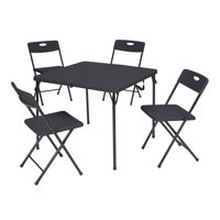Deals on Mainstays 5 Piece Resin Plastic Card Table and Four Chairs