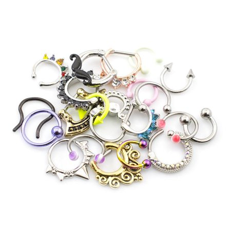 Lot Of 12 Septum Jewelry Randomly Best Sellers