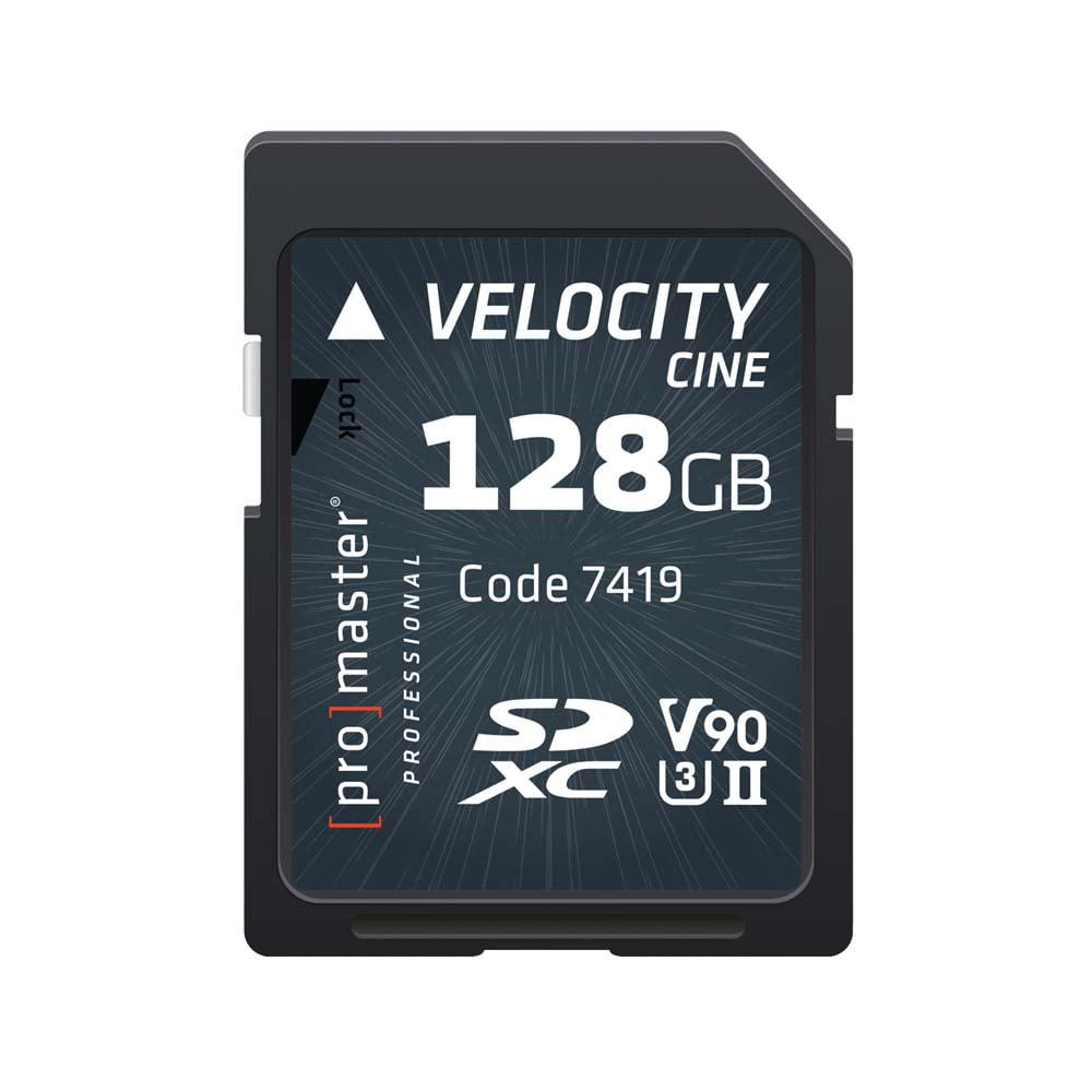 Promaster 128GB Velocity CINE SDHC Memory Card by Promaster