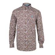 Cinch Western Shirt Mens L/S Paisley Weave Button Brown MTW1104130