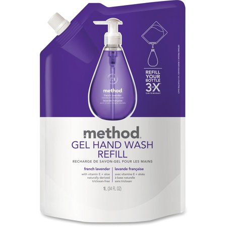 Lavender Hand Wash (Method, MTH00654, French Lavender Gel Hand Wash Refill, 1 Each, Lavender, 33.8 fl oz (1000)