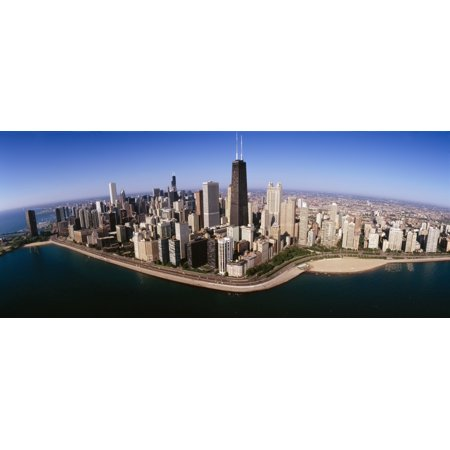 Aerial view of buildings in a city Lake Michigan Lake Shore Drive Chicago Illinois USA Poster Print - Halloween City In Michigan