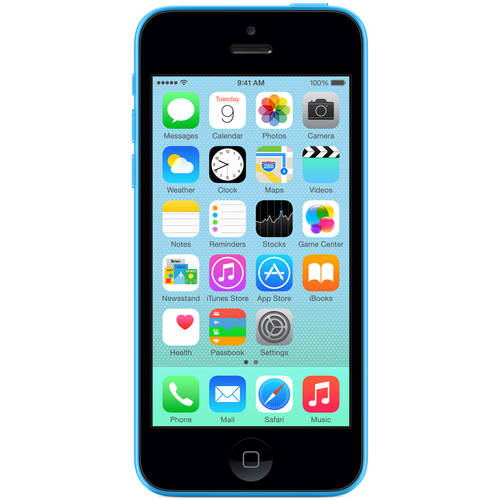 Apple iPhone 5C 16GB Blue LTE Cellular, AT, Refurbished