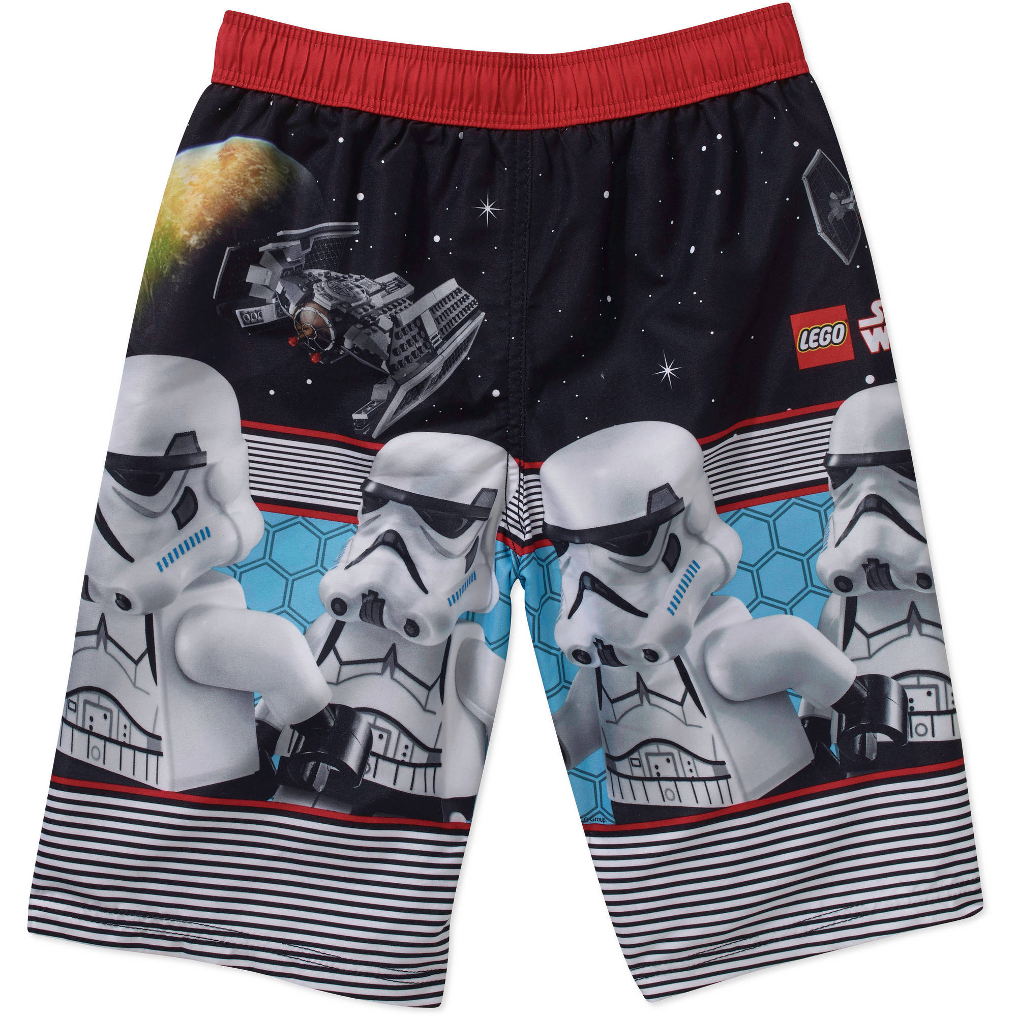 Isaac Morris Star Wars Lego Darth Vader Boardshort Swim Trunk
