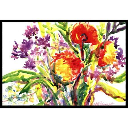 Carolines Treasures 6042JMAT 24 x 36 in. Flower Indoor Or Outdoor Mat - image 1 of 1