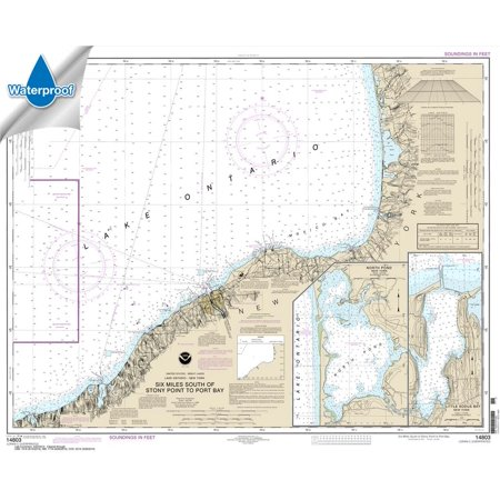 Little Cheap Charts (WATERPROOF NOAA Chart 14803: Six Miles south of Stony Point to Port Bay; North Pond; Little Sodus Bay)