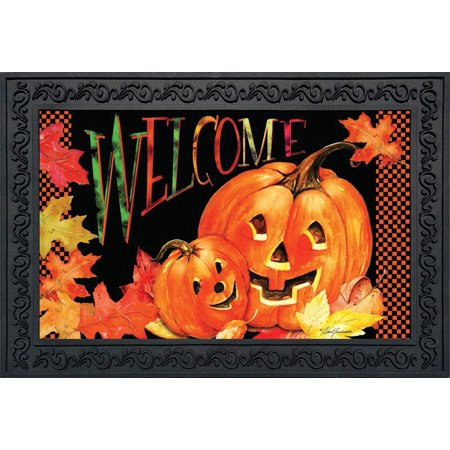 Pumpkin Pals Halloween Doormat Indoor Outdoor Welcome Jack o'Lanterns 18