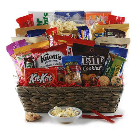 The Grand Snacker Gift Basket - Walmart.com on planter wreaths, woven planter baskets, planter bags, planter plants, wall planter baskets, wire baskets,