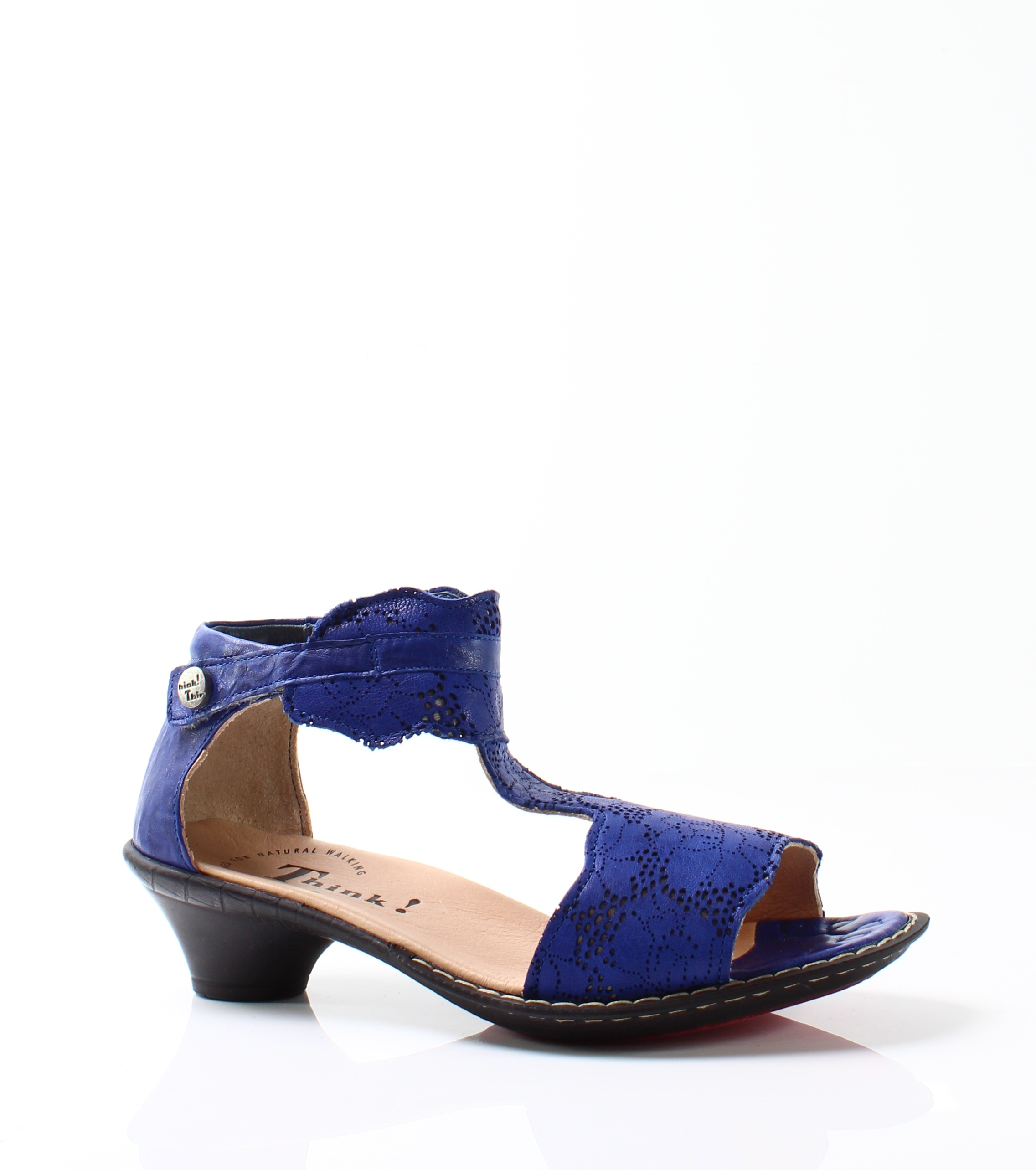 Think! New Blue Women's Shoes Size 4M Ankle Strap Suede Sandal by Think!