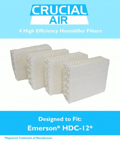 4PK Humidifier Wick Filters Fit Kenmore & Emerson, Part # HDC-12 & 14911 by Crucial Vacuum