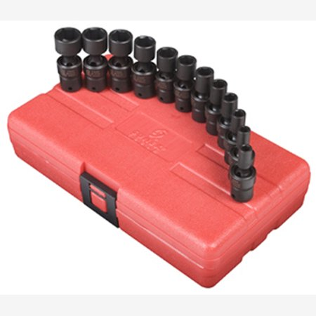 "Sunex 1814 1/4"" Dr. 12 Pc. Metric Universal Impact Socket Set"